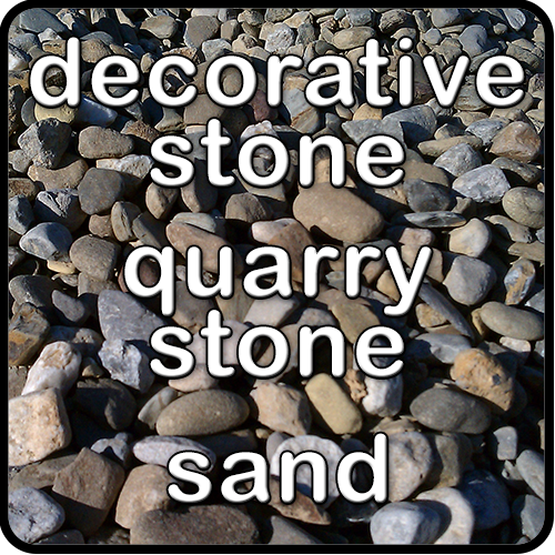 Whether your needs are for decorative or quarry stone, Mulch & More is your source!